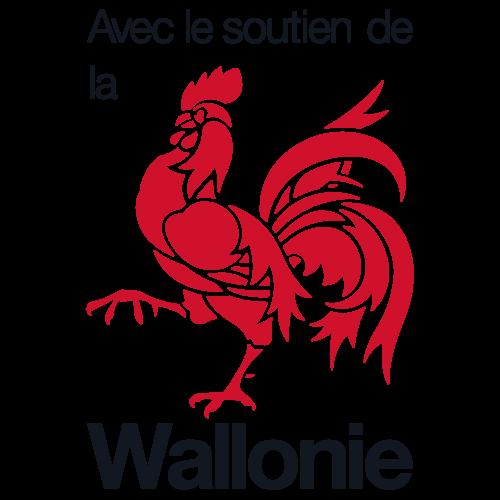 Logo région wallone soutien coq